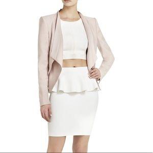 BCBGmaxazria Loyd Drape Front Blush Pink Blazer